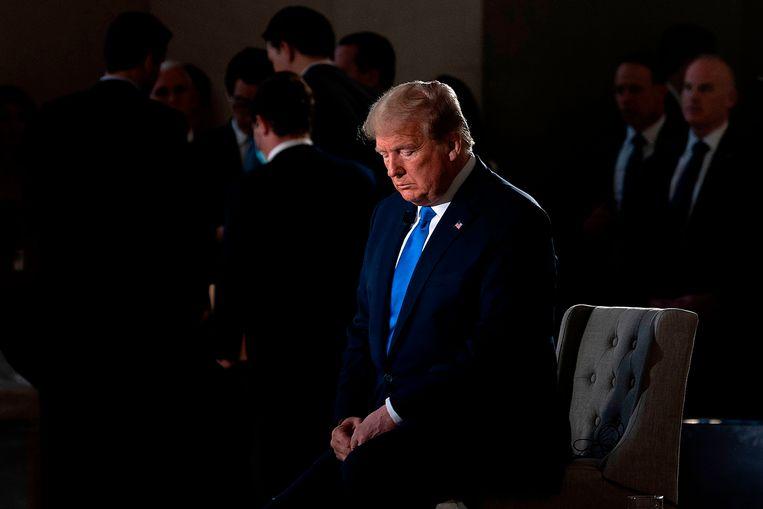 Wat Trump  betreft komt er een einde aan de voorrechten die techbedrijven nu genieten.  Beeld AFP