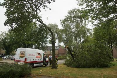 Onweersbuien trekken over het land, plaatselijke stormschade gemeld