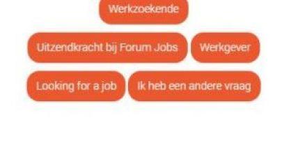 Forum Jobs verwelkomt Fien de chatbot als nieuwe collega