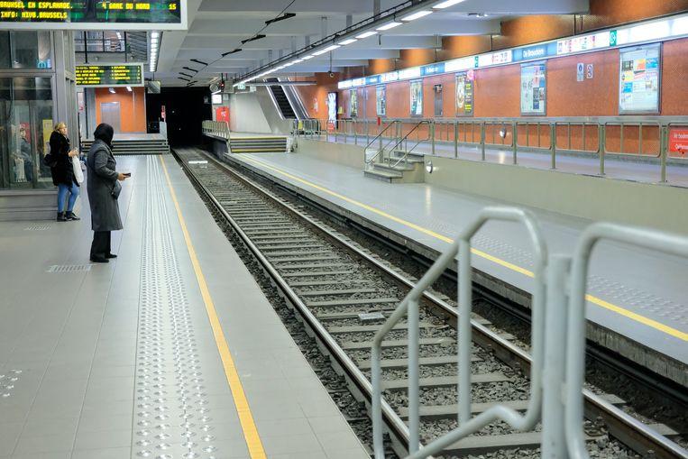 Metrostation De Brouckère.