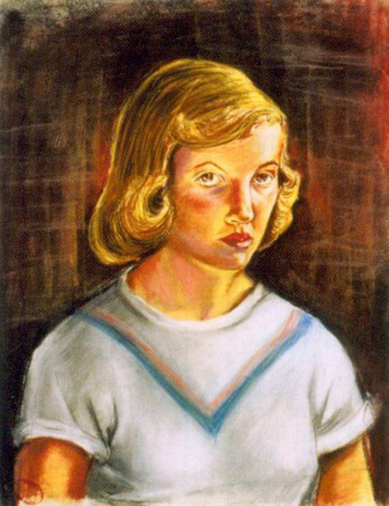 Sylvia Plath, zelfportret Beeld -