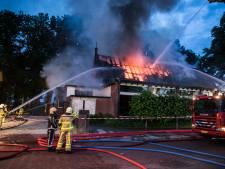 Zeer grote brand verwoest groot deel van restaurant in Twello