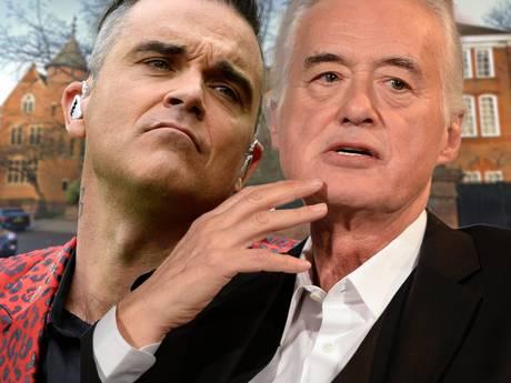 Jimmy Page kan zwembad buurman  Robbie Williams niet tegenhouden
