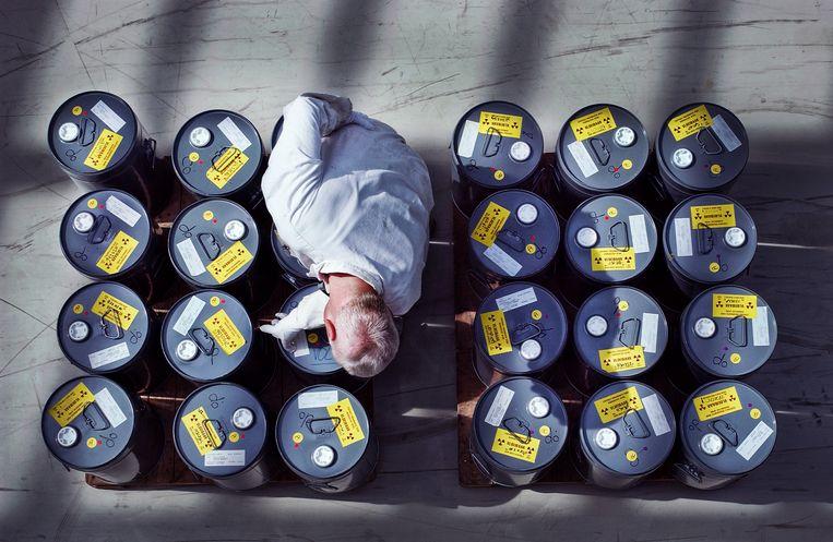 Radioactief afval in Borssele. Beeld Raymond Rutting / de Volkskrant