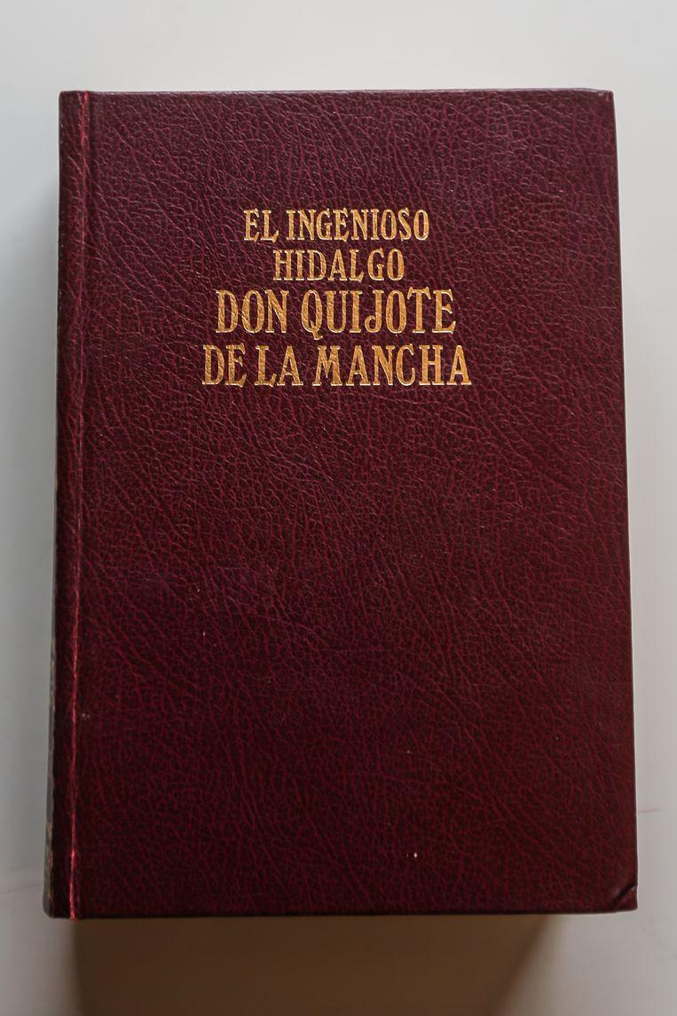 Een oude uitgave in het Spaans van de hand van Cervantes over de ridder die tegen de molens vocht.