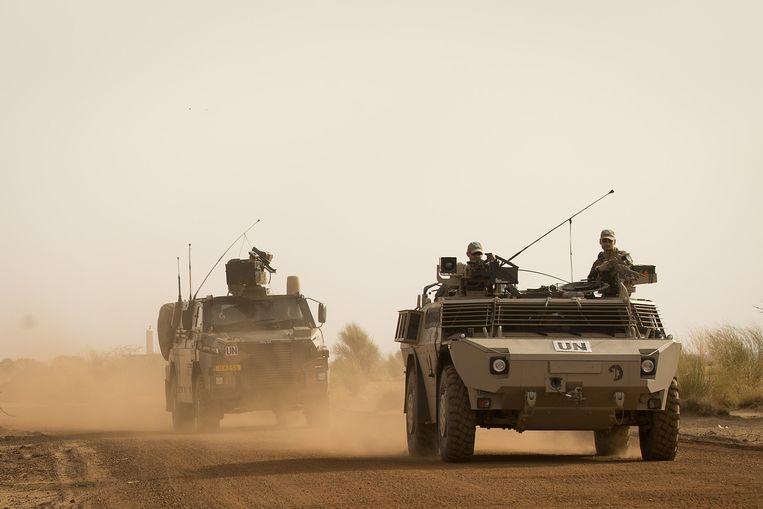 Nederlandse militairen patrouilleren in Gao, Noordoost Mali. De patrouille is noodzakelijk na bloedige gevechten tussen militairen en Toeareg-rebellen. Beeld anp