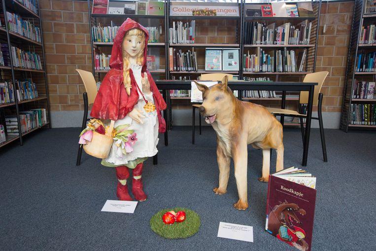 In de bibliotheek van Beringen werden vorig jaar nog sprookjesfiguren van papier-mache tentoongesteld