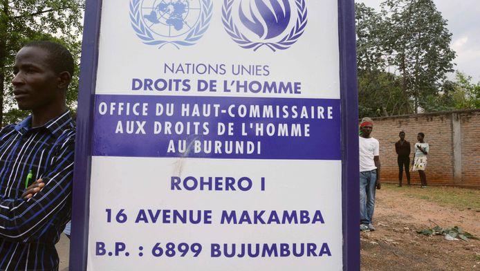 Het hoofdkantoor van de VN commissie voor de mensenrechten in Burundi.