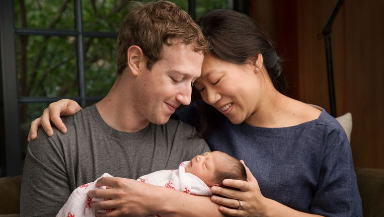 Mark Zuckerberg met zijn vrouw Priscilla Chan en hun dochter, Max Beeld ap