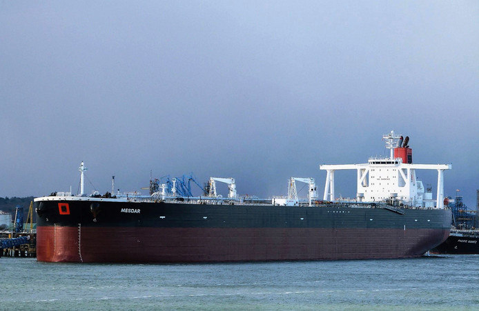De onder Liberiaanse vlag varende tanker Mesdar.