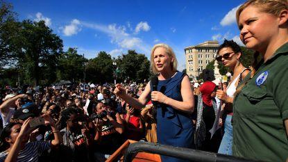Honderden demonstranten bezetten Senaatsgebouwen in Washington en protesteren tegen Kavanaugh