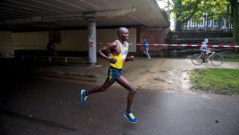 Hardloper Wilson Chebet loopt weer de marathon van Amsterdam Beeld ANP