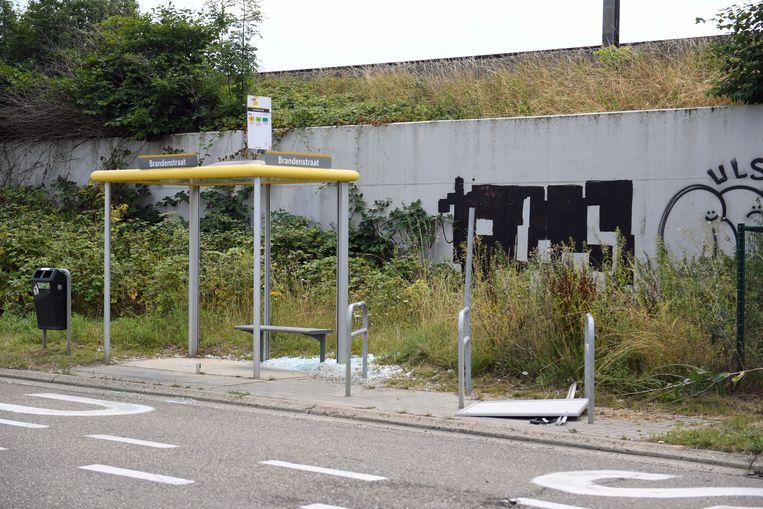 Vandalen vernielden het bushok aan de Brandweg in Wilsele.