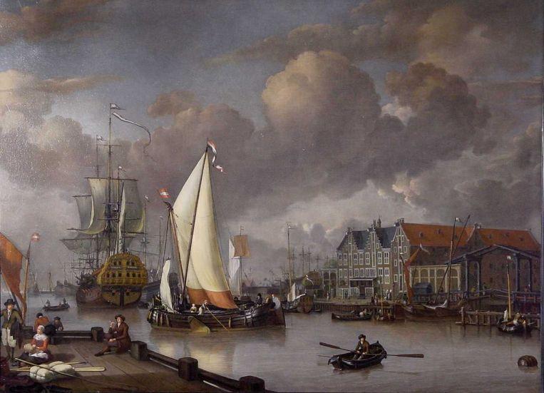 Jan Claesz.: Rietschoof, Gezicht op het Oostereiland (1652-1719) Beeld anp