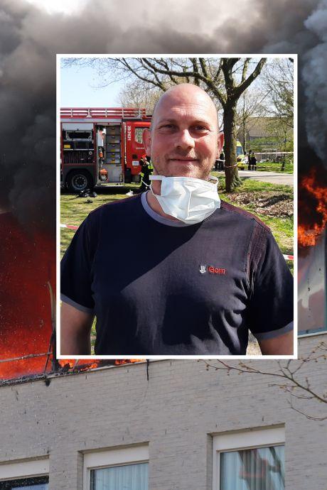 Glazenwasser Dave redt ouderen uit brandend zorgcentrum: 'Ik ben zo blij dat ik in de buurt was'