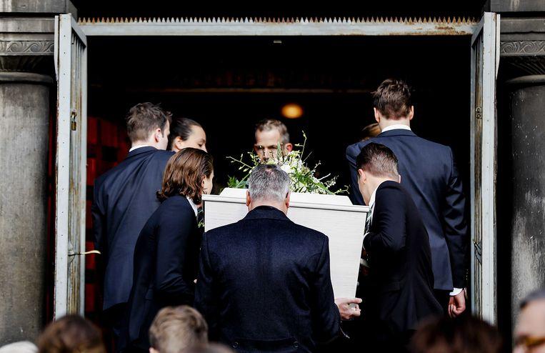 Het afscheid van oud-premier Lubbers in Rotterdam. Beeld epa