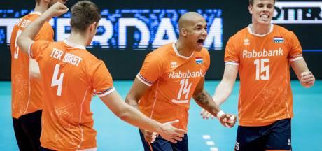 Nederlands volleybalteam gaat wedstrijd in Ede spelen