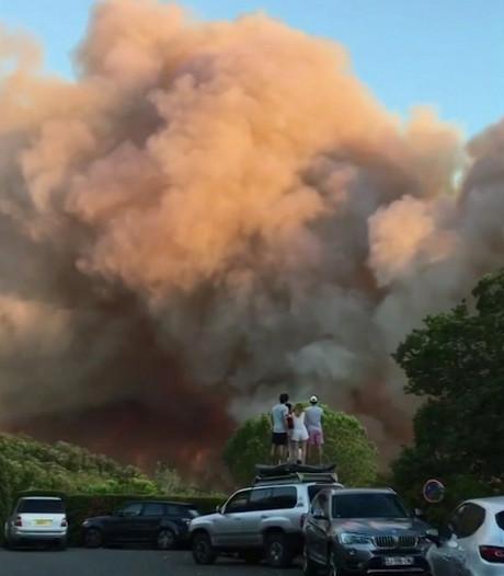 Reeuwijks gezin ontkomt aan Franse bosbrand: mega hoge vlammen