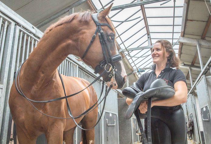 Thamar Zweistra en haar dressuurpaard Double Dutch.