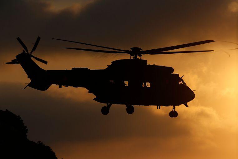 Een Eurocopter Cougar helikopter, het type toestel dat zaterdag neerstortte in Venezuela. Beeld EPA
