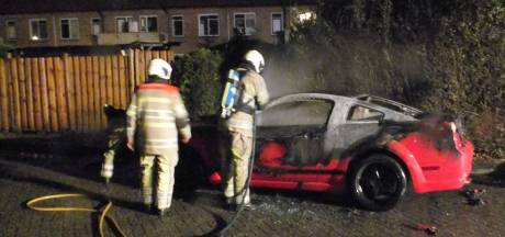 Ford Mustang total loss na brandstichting