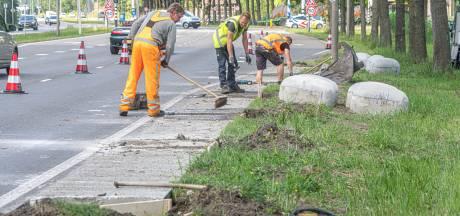 Onveilige hobbels langs de IJsselallee Zwolle alweer weggehaald: 'Toch te groot'