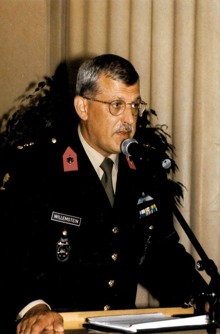 Johan Willemstein als militair in 2001. Beeld