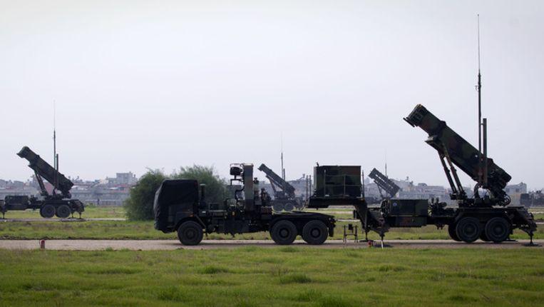 De twee Nederlandse Patriot-luchtafweersystemen zijn operationeel. De Nederlanders zijn daarmee de eersten die paraat staan om de stad Adana in het zuiden van Turkije te beschermen tegen mogelijke aanvallen met ballistische raketten uit Syrie. Beeld anp