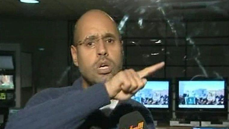Saif al-Islam, zoon van de Libische leider Kadhafi. Beeld reuters