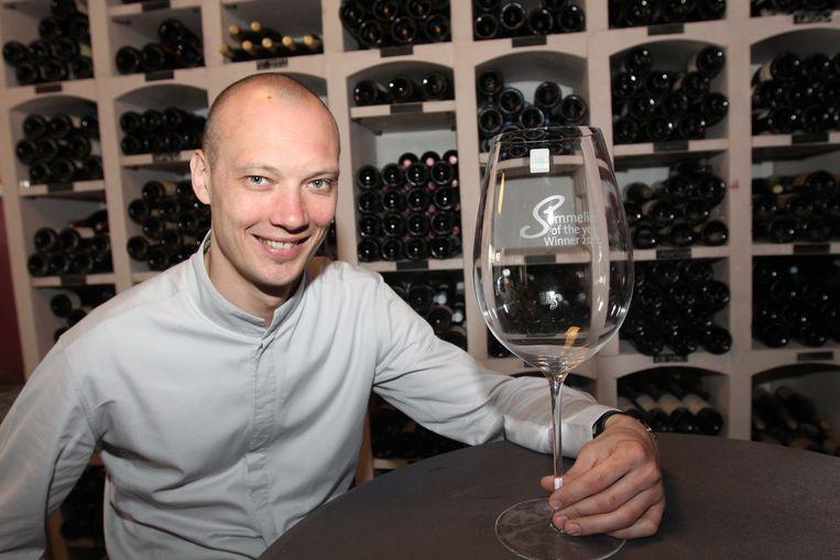 Andy De Brouwer werd sommelier van het jaar in 2012.