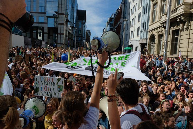 In Brussel telde de politie zo'n 15.000 betogers