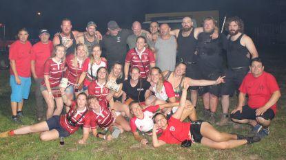 De Bascule en Rugby Ladies winnen touwtrekwedstrijd op Feestend Beert