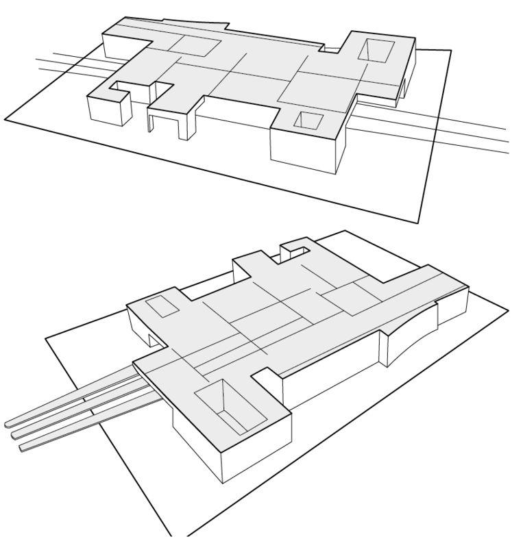 De tekeningen van het station in Breda. Beeld