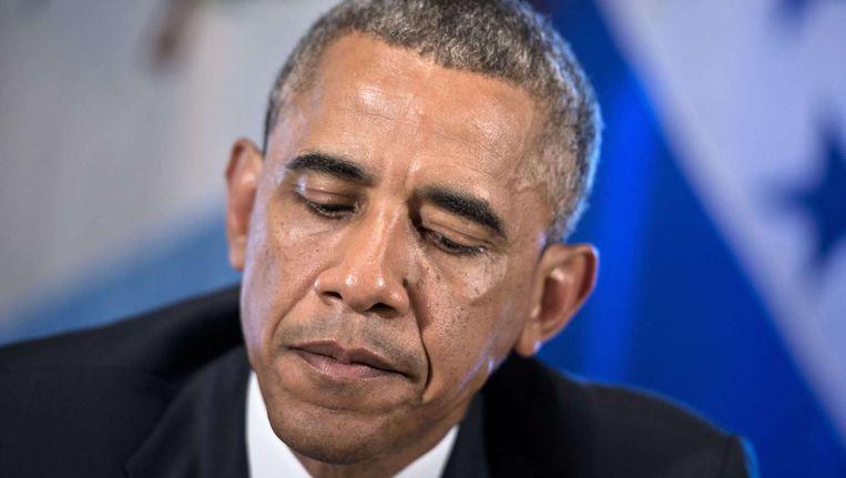 De Amerikaanse president Barack Obama. Beeld afp
