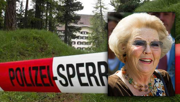 Het zwaar bewaakte Suvrettahotel in Sankt Morritz.