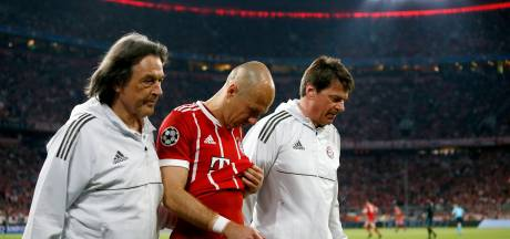 Heynckes positief over blessure Robben: Ziet er niet heel slecht uit