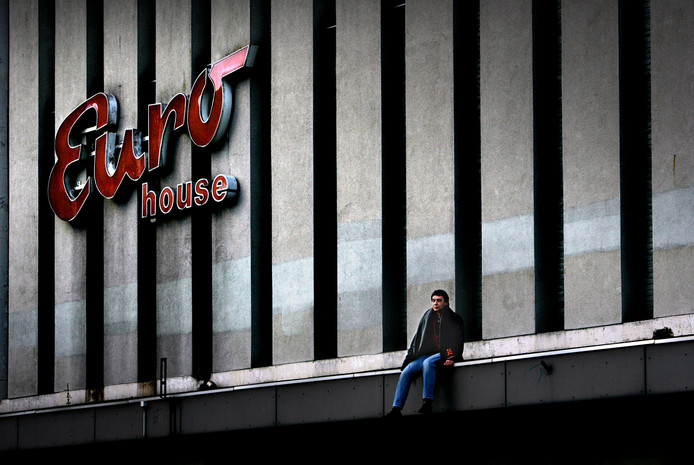 De voormalige bioscoop Euro Cinema aan de Leyweg.