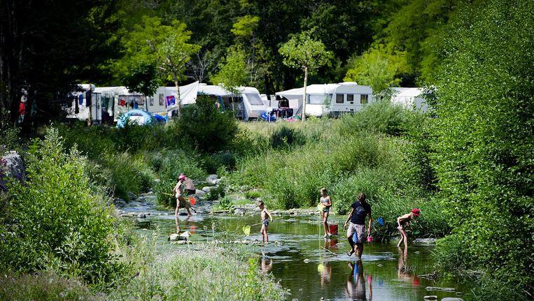 Franse camping waar veel Nederlandse toeristen komen, 2012. Beeld null