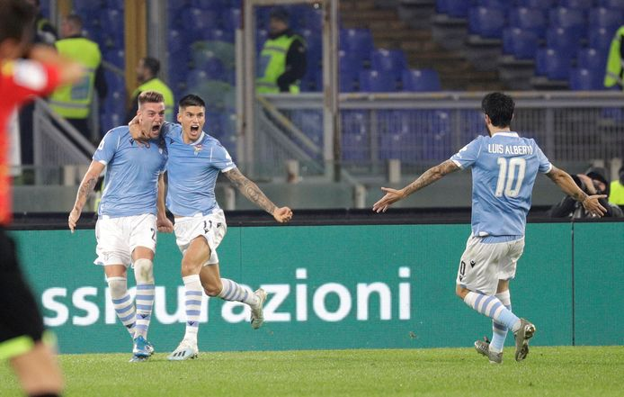 Sergej Milinkovic-Savic viert zijn treffer, de winnende tegen Juventus.