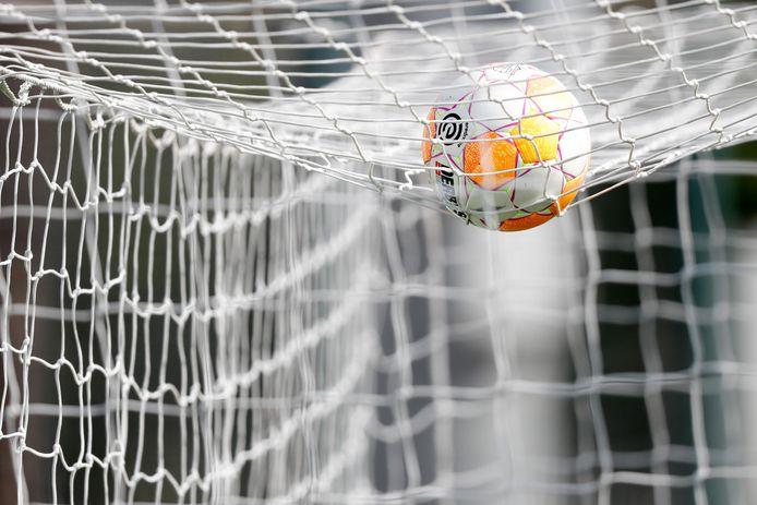 Deze bal mag alleen met handschoenen worden gepakt.