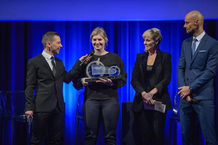 Merijn Casteleyn, Nicky Degrendele, Cathérine Moerkerke en Tom Boonen.