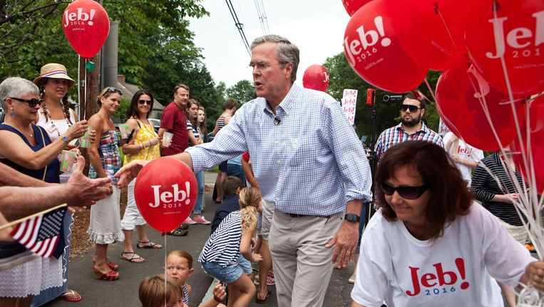 De Republikeinse presidentskandidaat Jeb Bush. Beeld ANP
