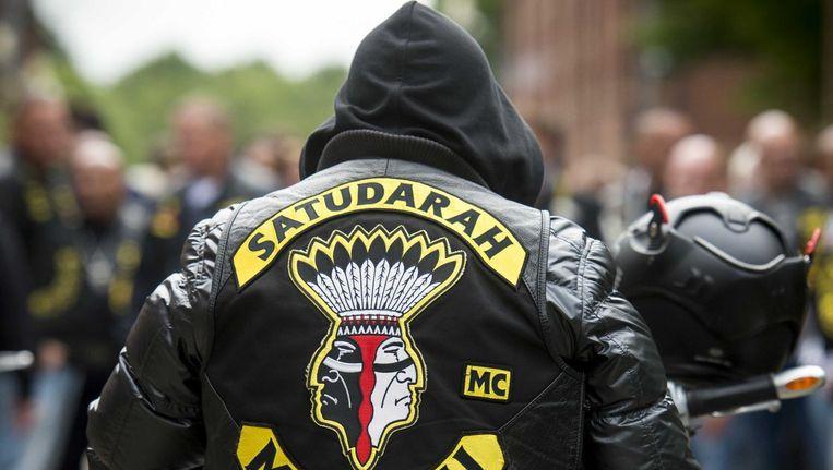 De leden van motorclub Satudarah dwingen als groep respect af Beeld ANP