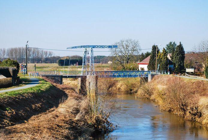 De oude Hansbrug over de Dijle, op de grens van Haacht en Keerbergen.