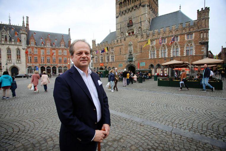 Thierry Lemahieu op de Grote Markt.