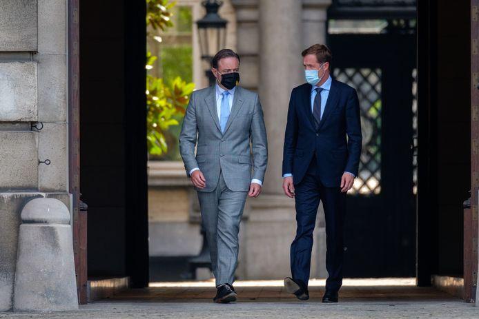 Bart De Wever (N-VA) en Paul Magnette (PS).