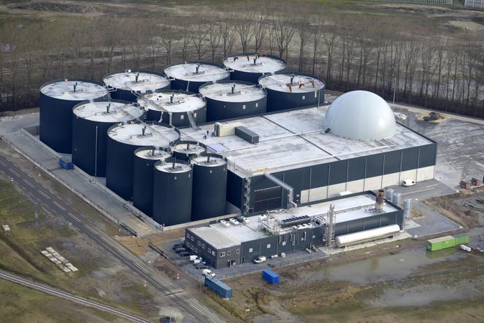 De biovergassingsinstallatie van Aben Green Energy op de Axelse Vlakte.