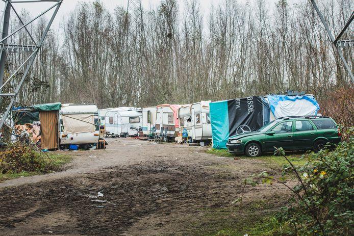 Het huidige Roma-kamp aan de Hurstweg.