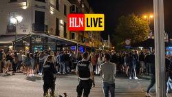 Beelden tonen hoe honderden (vooral Nederlandse) jongeren samentroepen in Knokke-Heist: politie vraagt bijstand van federale politie om uitgaansbuurt te ontruimen