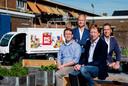 Picnic-oprichters Bas Verheijen, Joris Beckers, Frederik Nieuwenhuys en Michiel Muller (vlnr) poseren in hun kantoor in Amersfoort.